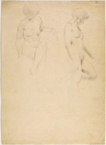 An image of (Male nude study) (Student studies) by William Dobell