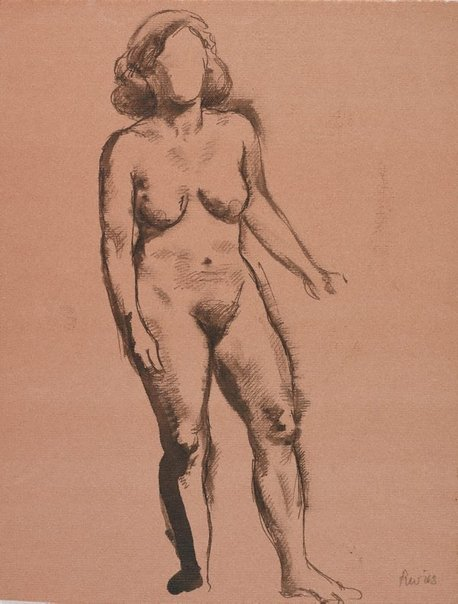 An image of (Standing female nude) by Roland Wakelin