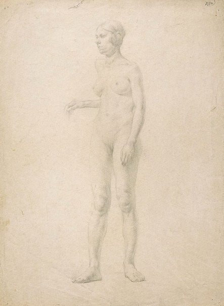 An image of (Female nude) (Student studies) by William Dobell
