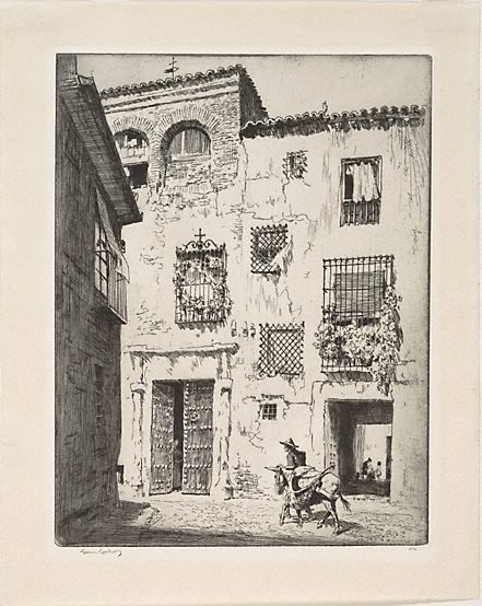 An image of Las Rejas, Toledo by Lionel Lindsay