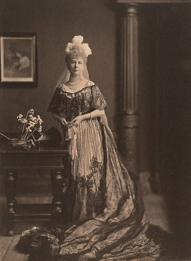 An image of Lady Charlotte Russell (in St James court presentation dress), London