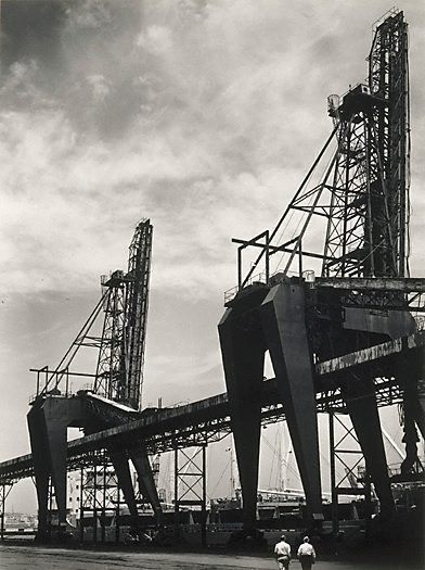 An image of Cranes at Newcastle by Max Dupain