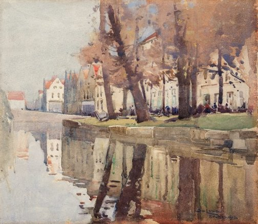 An image of Bruges by Sydney Long