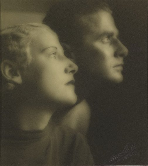 An image of Untitled (double portrait of a man and woman) by A.W. Gale