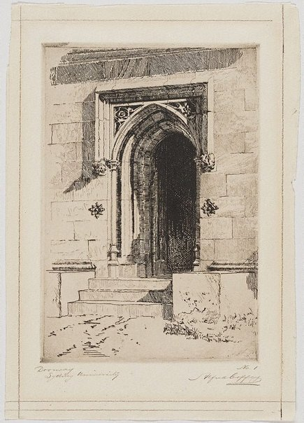 An image of Doorway, Sydney University by Alfred Coffey
