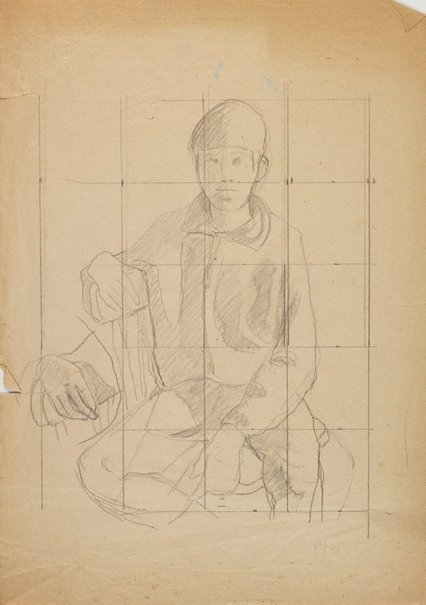 An image of (Seated boy) by Roland Wakelin