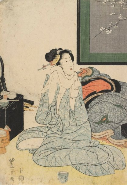An image of Courtesan after bath by Utagawa TOYOKUNI