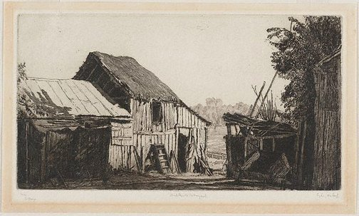 An image of Ambleside Farmyard by Sydney Ure Smith