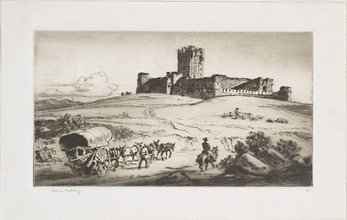 An image of Castle Cocas by Lionel Lindsay