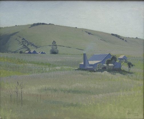 An image of South Coast farm by Elioth Gruner