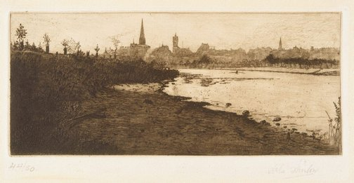 An image of The river (Yarra) from just below Government House by John Shirlow