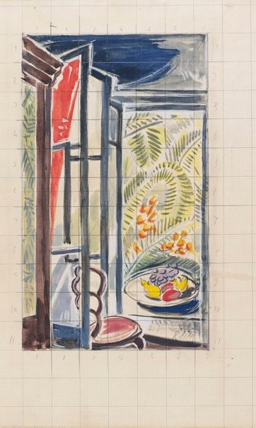 An image of Sketch: Studio interior, St-Jean-de Luz (study for 'Summer') by Roy de Maistre