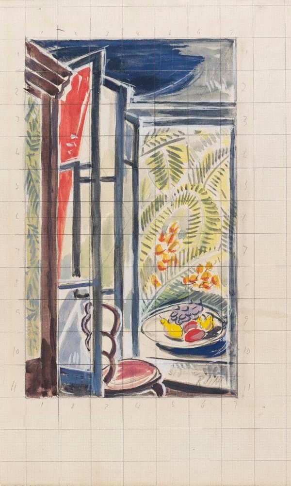 An image of Sketch: Studio interior, St-Jean-de Luz (study for 'Summer')