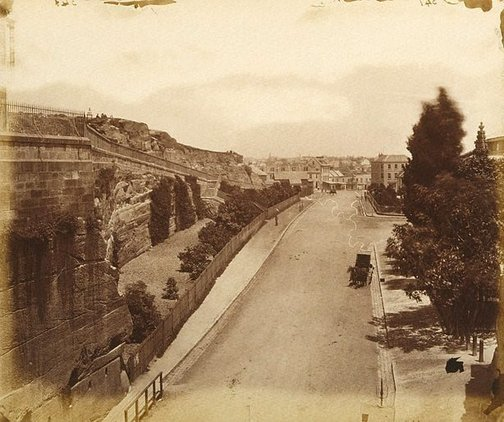 An image of The Argyle Cut Road, Sydney by Charles Bayliss