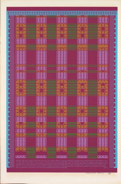 An image of Memory matrix by Sir Eduardo Paolozzi