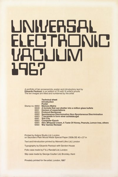 An image of Technical sheet by Sir Eduardo Paolozzi