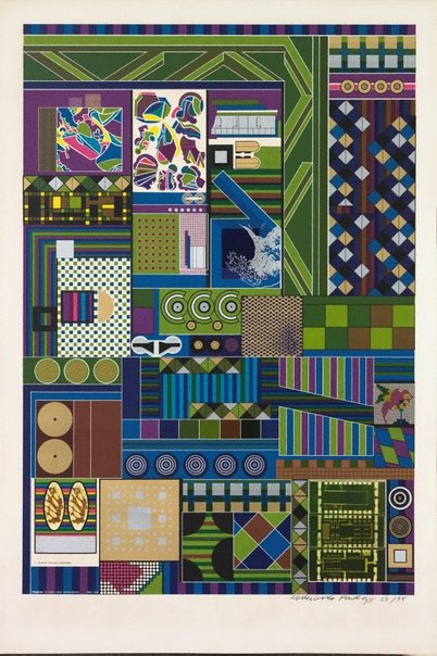An image of 7 pyramide in form einer achtelskugel by Sir Eduardo Paolozzi