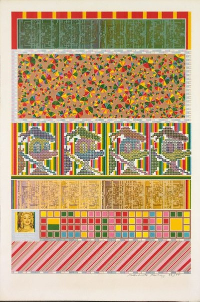 An image of 883. Whipped cream, a taste of honey, peanuts, lemon tree, others by Sir Eduardo Paolozzi