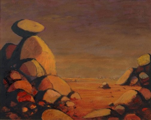 An image of Rocky landscape by Russell Drysdale