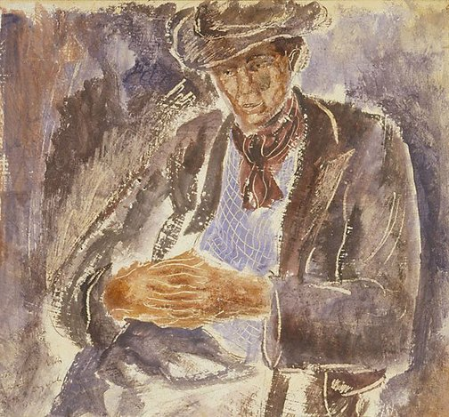 An image of Study of a man by Russell Drysdale