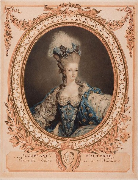 An image of Marie Antoinette by Jean-François Janinet, after Jean-Baptiste-André Gautier-Dagoty