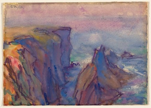 An image of Les Aiguilles, Belle Ile by John Russell