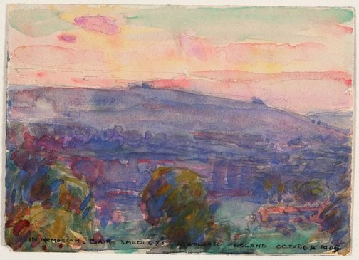 An image of Landscape, Matlock by John Peter Russell