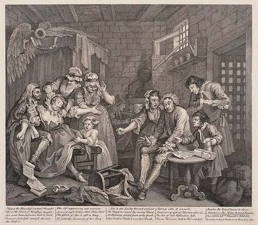 An image of A rake's progress: plate 7 by William Hogarth