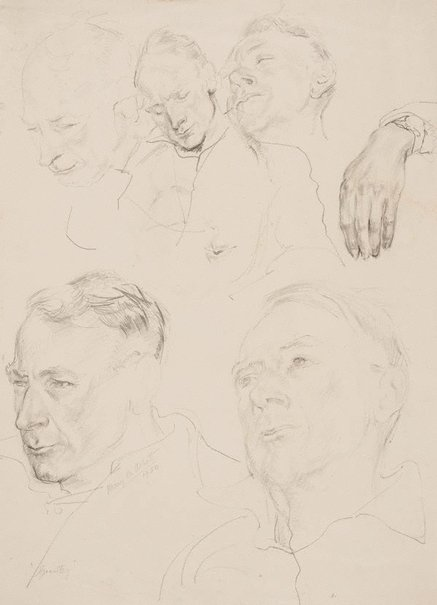 An image of Grantley (head studies) by Mary Abbott