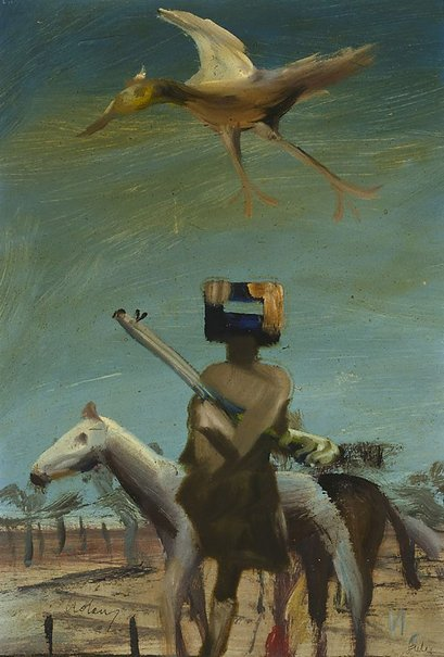 An image of Ned Kelly by Sidney Nolan