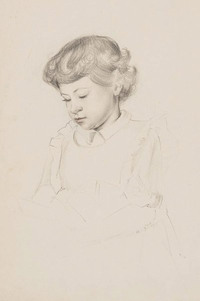 An image of (Portrait of Christine) by Mary Abbott
