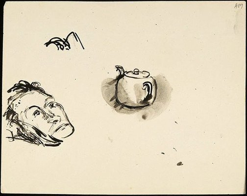 An image of (Head and teapot) (Student studies) by William Dobell
