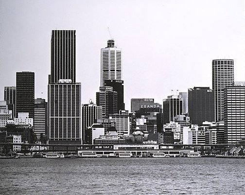 An image of Sydney Cove: City 1979 by Mark Johnson