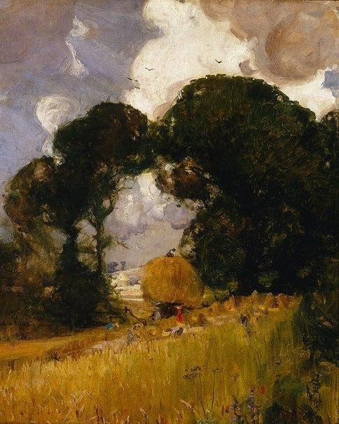 An image of Sussex harvest by Arthur Streeton