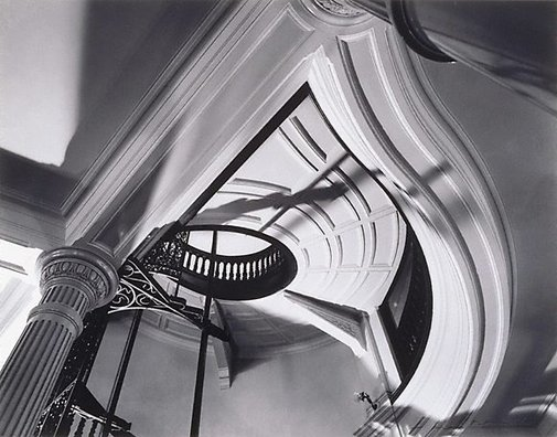 An image of Ceiling, stairway and lift shaft in old CSR head office by Max Dupain