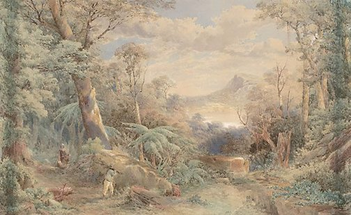 An image of A bush scene, New Zealand by F. C. Terry
