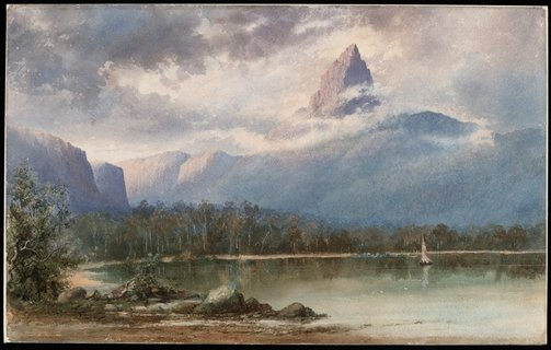 An image of Mount Ida, Lake St Clair, Tasmania by WC Piguenit