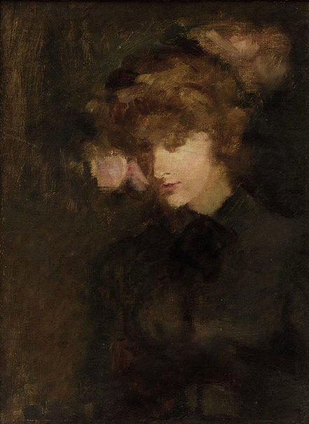An image of Portrait of the artist's first wife, née Ellen Cobden by Walter Richard Sickert