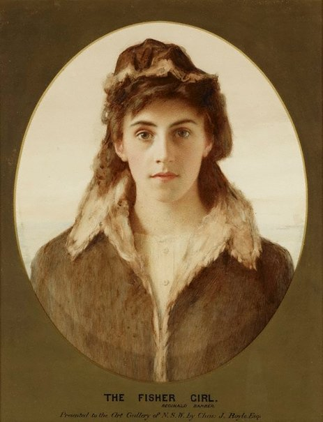 An image of The fisher girl by Reginald Barber