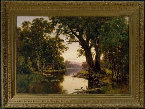 An image of A billabong of the Goulburn, Victoria by Henry James Johnstone