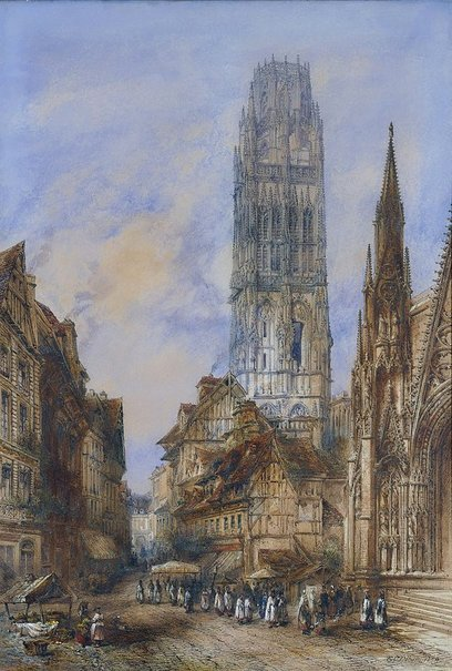 An image of The Butter Tower of the Cathedral, Rouen by Thomas Colman Dibdin
