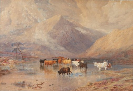 An image of Highland drovers by Edward Hargitt