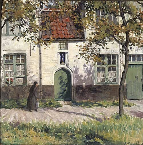 An image of The Beguinage, Bruges by Dora Lynell A Wilson