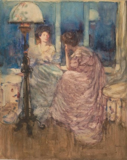 An image of The window seat by Frances Hodgkins