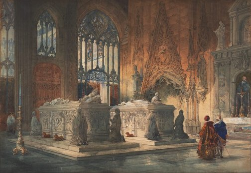 An image of Toledo cathedral by P. Fletcher Watson