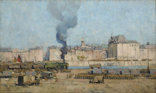 An image of Boulogne by Arthur Streeton