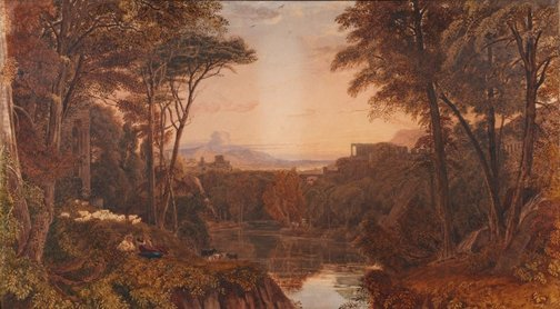 An image of Classical landscape by George Barret, Junior