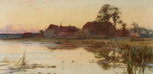 An image of The Thames near Great Marlow by Charles A Wilkinson