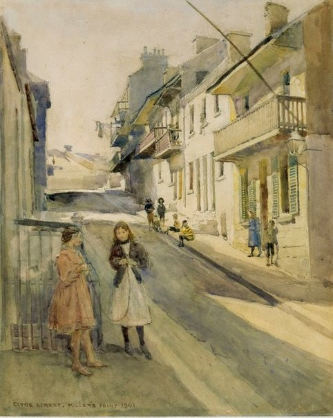 An image of Clyde St, Miller's Point by Julian Ashton