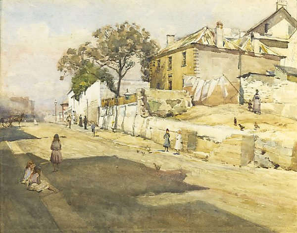 An image of Old houses, Cumberland Street